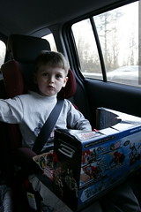 driving home with the new toy in his lap    MG 6725