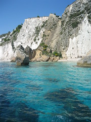 The clear water of Kefalonia
