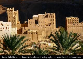 Yemen - Mud house city in Wadi Dawan