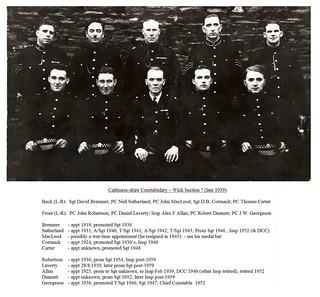Caithness-shire Constabulary 1939