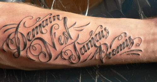 French Script Tattoo