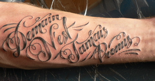French Script Tattoo Flickr Photo Sharing