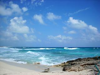 Playa Bonita görüntü. mexico caribbean cozumel