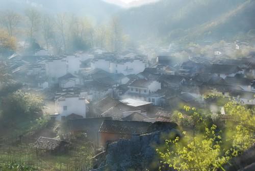china morning house sunrise village mel melinda wuyuan jiangxi 江西 婺源 contryside 石城 程村 chanmelmel melindachan
