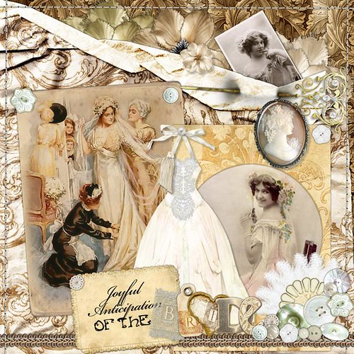 Victorian Wedding digital scrapbooking page 3