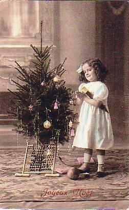 Little Girl Christmas Tree Vintage Postcard Flickr