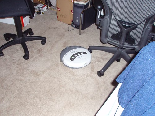 Roomba in the office area