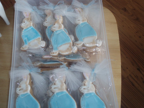 Peter Rabbit cookies packaged up