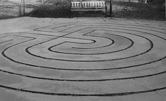 floor(0.0), asphalt(0.0), outdoor structure(0.0), soil(0.0), snow(0.0), cobblestone(0.0), circle(0.0), road surface(0.0), flooring(0.0), labyrinth(1.0), line(1.0), monochrome photography(1.0), monochrome(1.0), black-and-white(1.0),