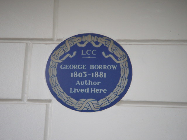 Photo of George Borrow blue plaque