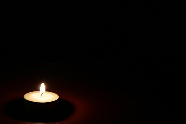 Photo:dark candle By:Wim Vandenbussche