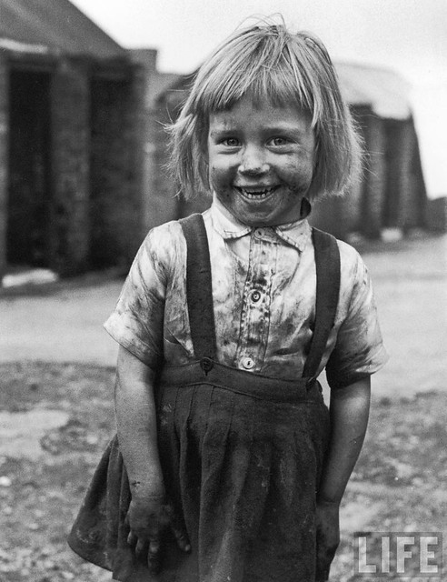Coal miner's daughter, Yorkshire, UK, 1952, by Carl Mydans