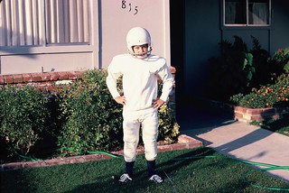 Helmet on, 1970 Practice