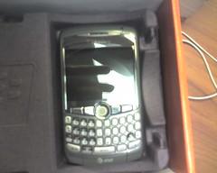 blackberry curve 8310  bye bye treo 700w