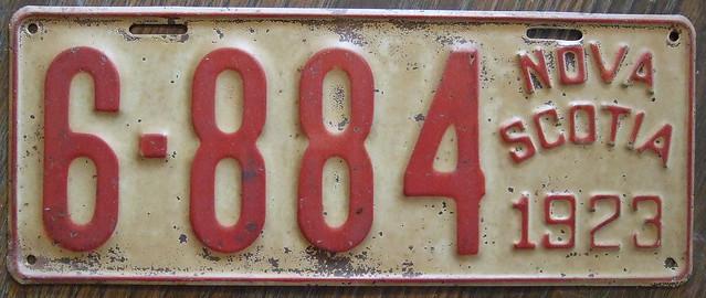 nova scotia 1923 license plate flickr photo sharing. Black Bedroom Furniture Sets. Home Design Ideas