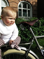 Lulu-Sophia on Daddy's Velorbis