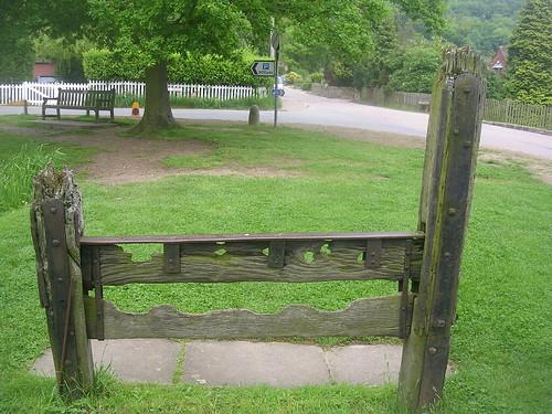 The village stocks, Albury