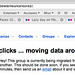 Hold your clicks... moving data around