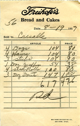 Freihofer's receipt