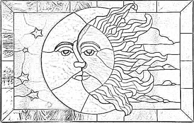 Sun And Moon Together Coloring Pages. Awesome Sun And Moon Together ...