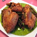 Fried chicken wings with crispy pandan