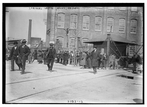 Strikers leave mills, Passaic  (LOC)