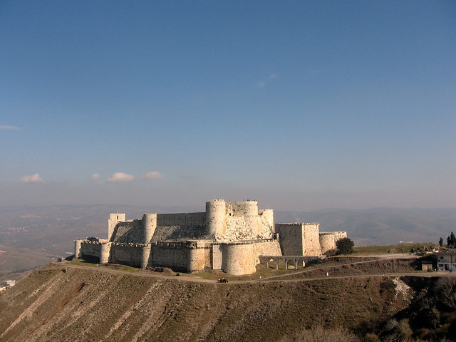 Crac de los Caballeros ( Krak des Chevaliers ). Fortaleza de los cruzados en Siria