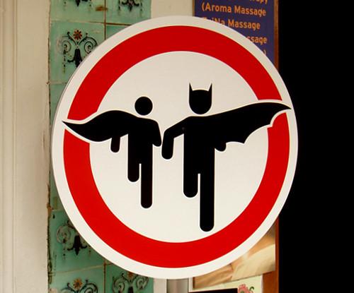 Superheroes crossing