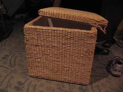 brown, wood, wicker, basket,