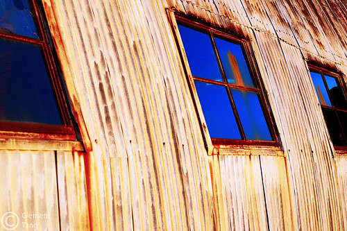 windows sunset urban usa abstract color reflection building oklahoma d50 geotagged 50mm nikon rust decay rusty warehouse stillwater minimalism nikkor 50mmf18d rustyandcrusty oklahomastateuniversity primelens explored clementtang geo:lat=36128503 geo:lon=97082877