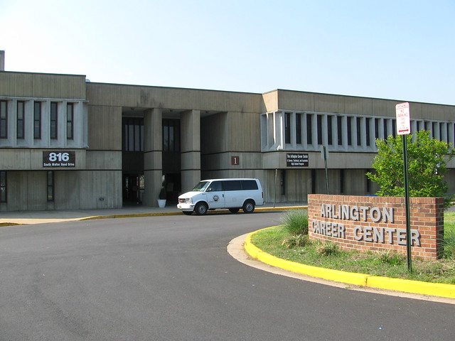 The Arlington Career Center side entrance