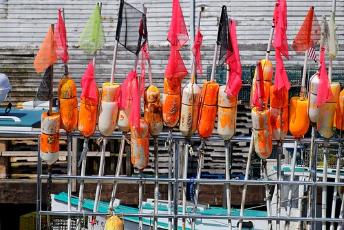 Lobster Buoys on a Lobster Fishing Boat