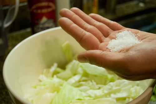add a handful of salt