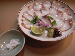 蛸刺し Sashimi of Octopus