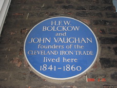 Photo of Henry F. W. Bolckow and John Vaughan blue plaque