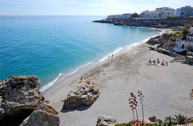 Beach Nerja, Costa del Sol, Spain