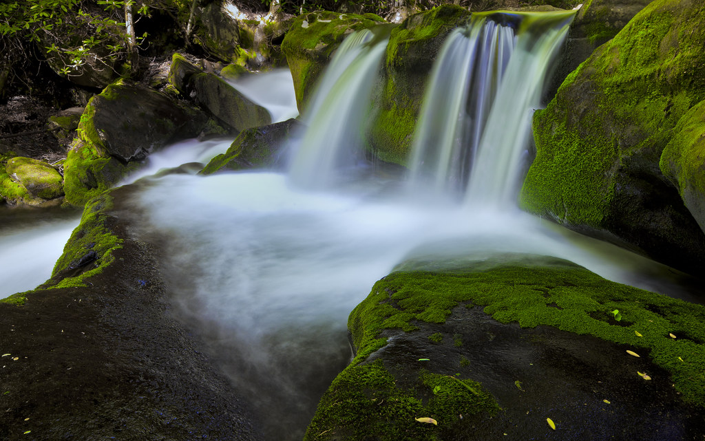 Mossy Falls   A waterfall on the Middle Prong of the Little …   Flickr