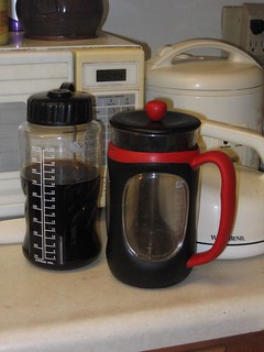 First batch of cold brew coffee