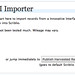 III Importer Welcome Screen