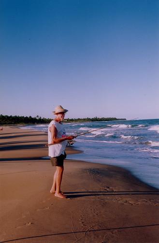 Fisherman at Algodoes Beach - Marau - Brasil