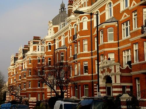 Mansion blocks West London