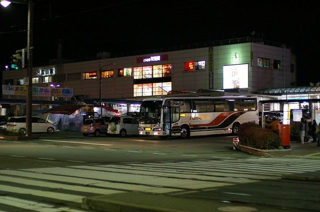 Toyama station, midnight
