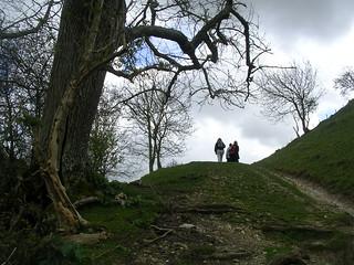 The climb up