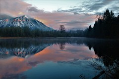 Mt Si from Borst Lake / Mill Pond, Snoqualmie WA
