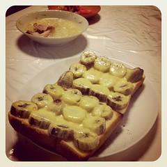 美味しそうなものがある。バナナハニートーストのようだ