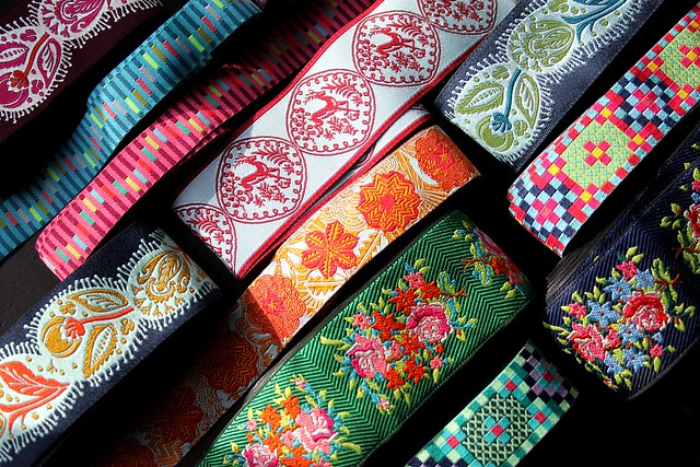 AMH Dowry jacquard ribbons from Renaissance Ribbons!