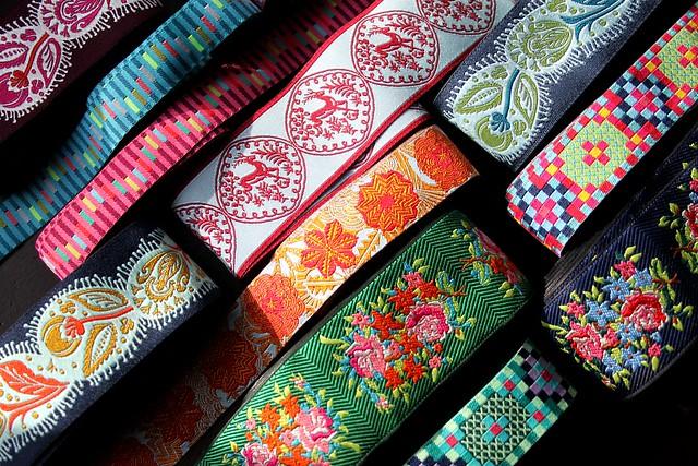 AMH Dowry jacquard ribbons from Renaissance Ribbons!