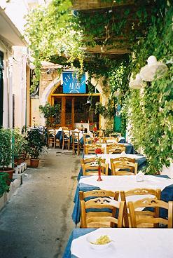 Cafe Rethymnon Crete, Greece