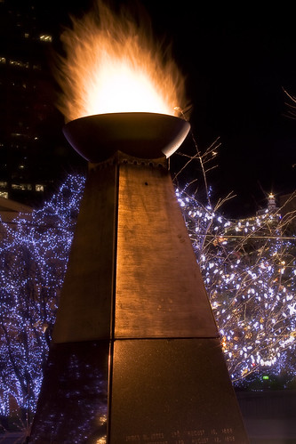 christmas blue cold fire lights downtown ky louisville