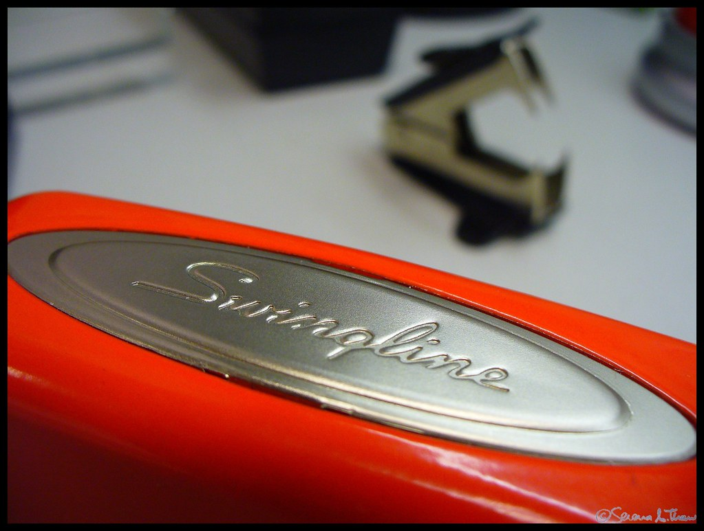 Red Swingline Stapler With It S Natural Enemy 2 365 1 Flickr